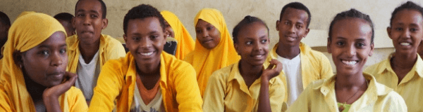 Group of Ethiopian students
