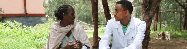 Ethiopian woman speaking with doctor