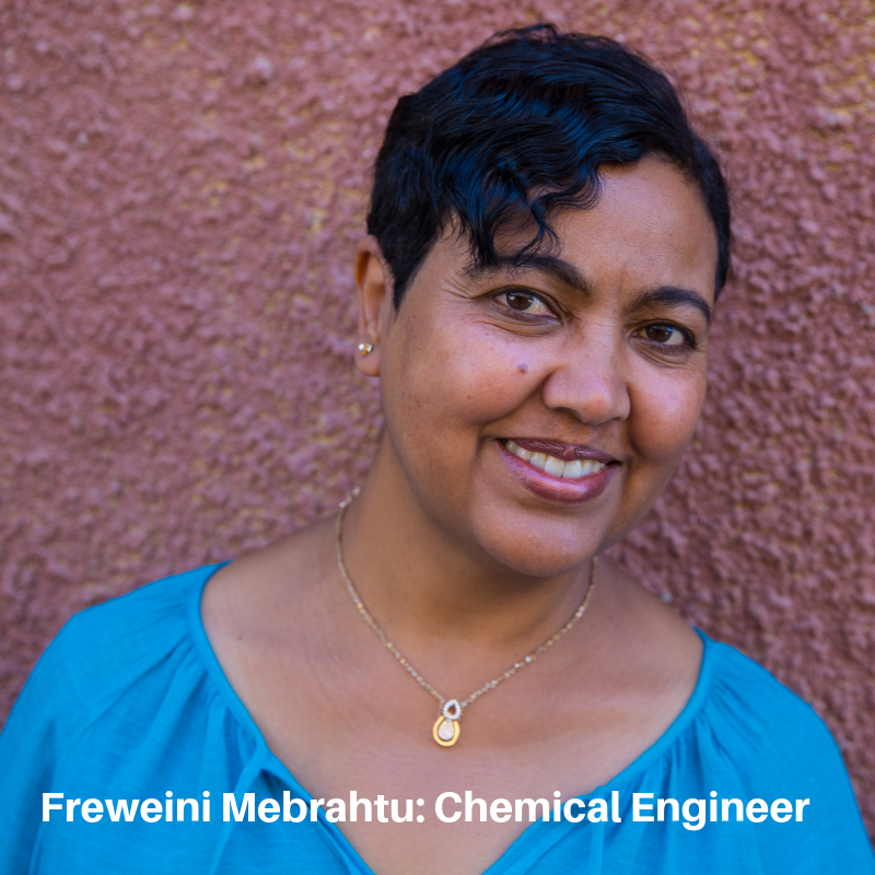 Freweini Mebrahtu, founder of the Mariam Seba Sanitary Products Factory