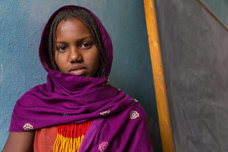 Ethiopiaid Ireland Sunny Girl Diary Brightness Ethiopian Standing By Herself