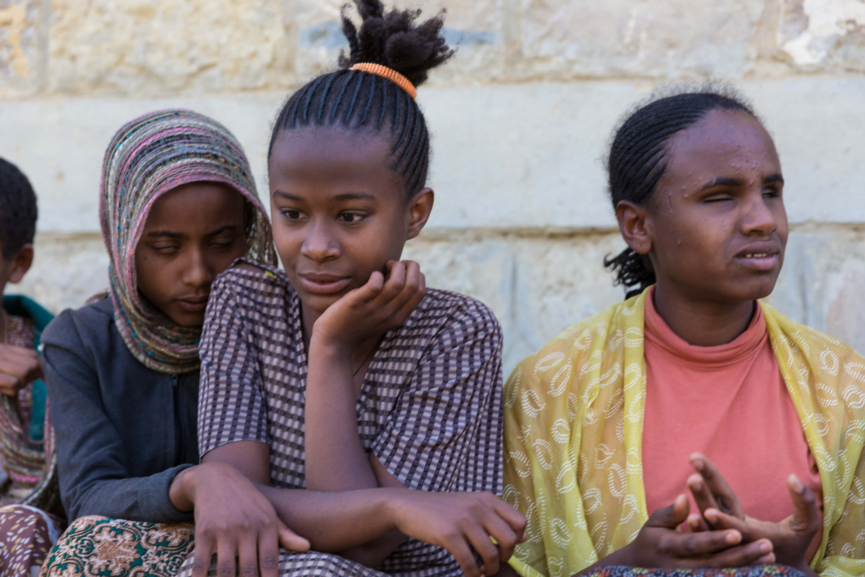 Teenage girls in Ethiopia